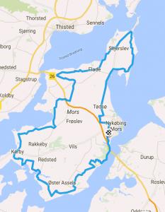 112 km ruten til Mors Rundt.